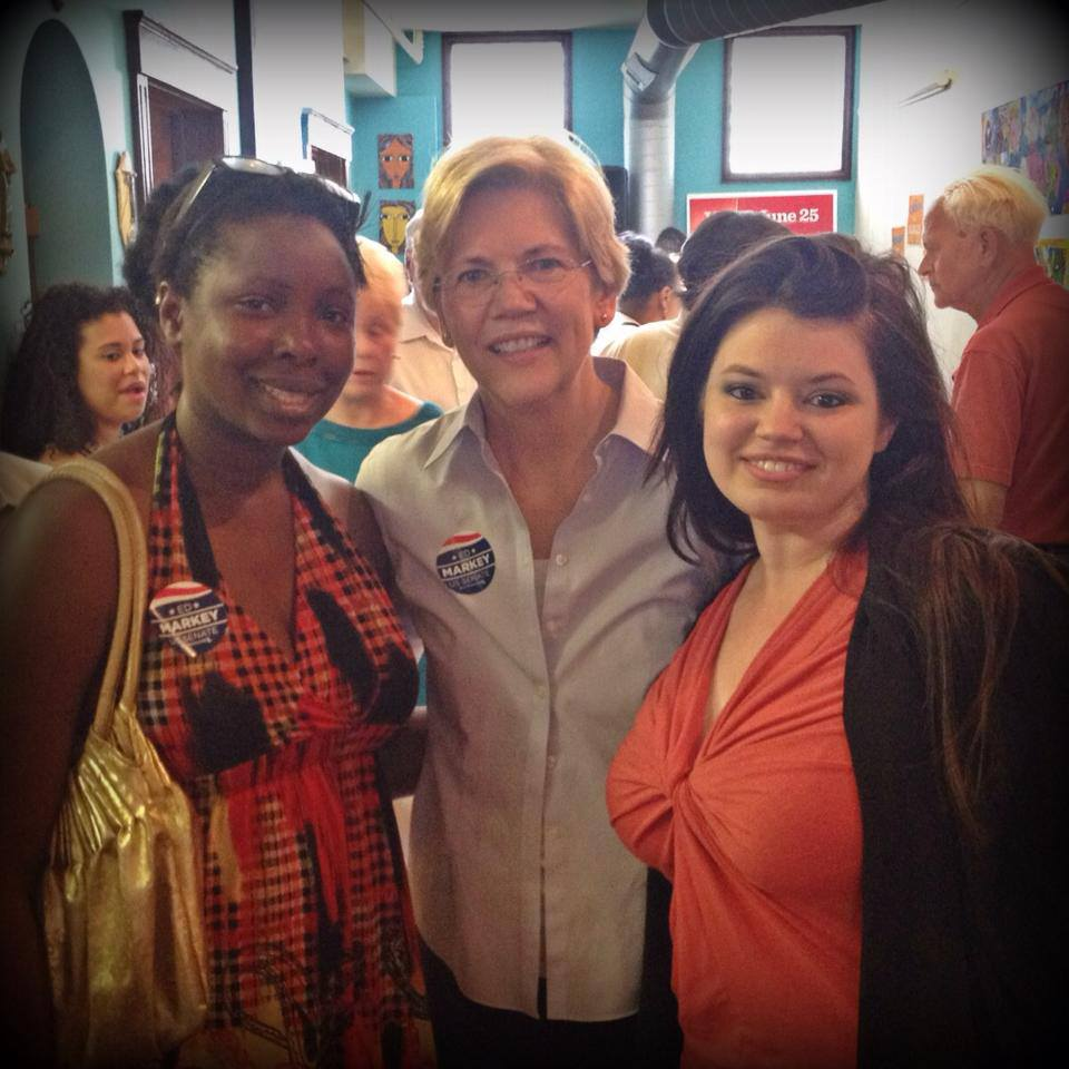 Jessica with U.S. Senator Elizabeth Warren