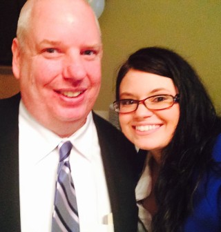 Jessica with Methuen City Councillor Jamie Atkinson