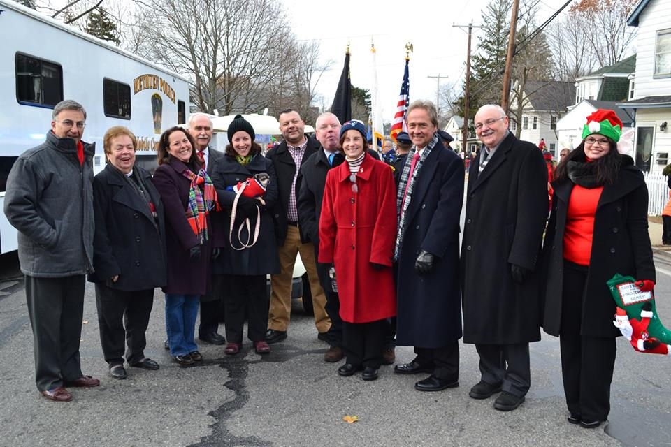 Marching in the Methuen Santa Parade