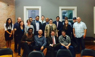 Jessica in Lawrence with Rep. Marcos Devers and local organizers for change
