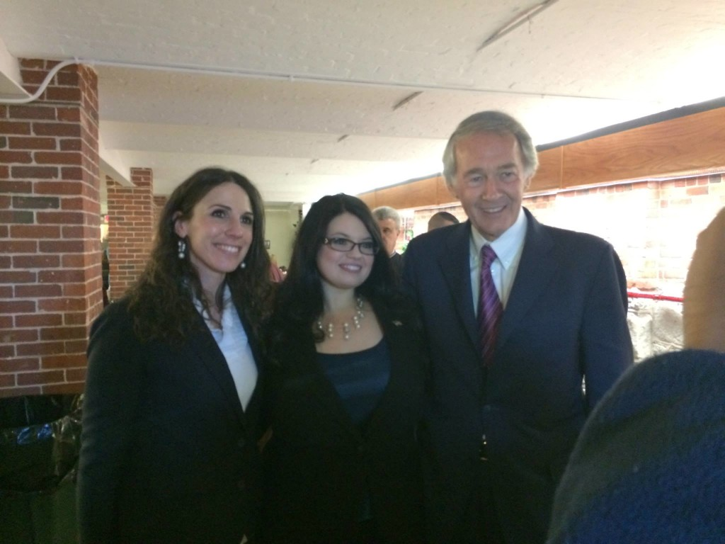 Celebrating my first inauguration with Rep. Diana DiZoglio & U.S. Senator Ed Markey
